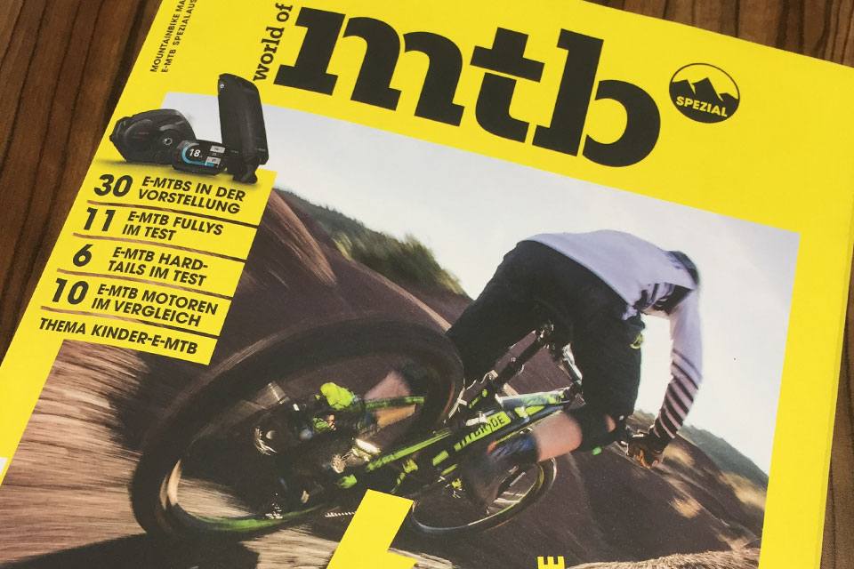 Savage E: Test report in the E-MTB special edition of the world of mtb magazine 01/18